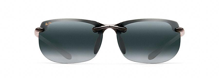 Maui Jim Banyans Sonnenbrille Schwarz glänzend HT412-02 Polarisiert 70mm re1lzVdeh