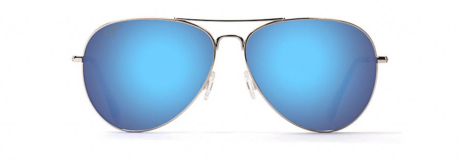 Maui Jim Mavericks 264 Sunglasses, Silver / Flash Blue Lens, Sunglasses by Maui Jim